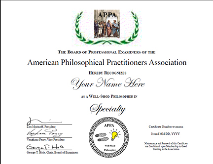 Certificate Program in Well-Shod Philosophy, reservation and deposit ...